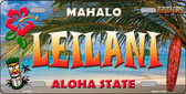 Leilani Hawaii State Background Novelty Wholesale Metal License Plate