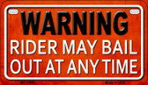 Rider May Bail Wholesale Metal Novelty Motorcycle License Plate MP-11662