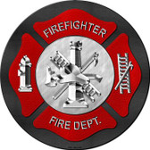 Firefighter Wholesale Novelty Metal Circular Sign