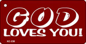 God Loves You Mini License Plate Metal Novelty Key Chain