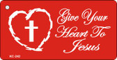 Save Heart Mini License Plate Metal Novelty Key Chain