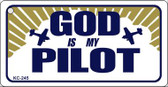 God Pilot Mini License Plate Metal Novelty Key Chain