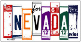 Nevada License Plate Art Metal Novelty Mini License Plate Key Chain