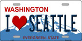 I Love Seattle Washington Novelty Wholesale Metal License Plate