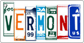 Vermont License Plate Art Metal Novelty Mini License Plate Key Chain
