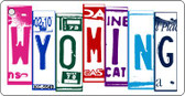 Wyoming License Plate Art Metal Novelty Mini License Plate Key Chain