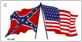 Confederate American Flags Wholesale Novelty Key Chain