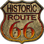 Historic Route 66 Wood Wholesale Metal Novelty Highway Shield