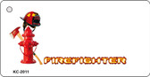 Firefighter Offset Wholesale Novelty Key Chain