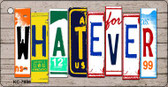 Whatever Wood License Plate Art Wholesale Novelty Key Chain