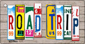 Road Trip Wood License Plate Art Wholesale Novelty Key Chain