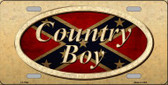 Country Boy Novelty Wholesale Metal License Plate