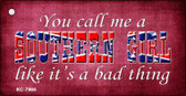 Call Me A Southern Girl Wholesale Novelty Key Chain