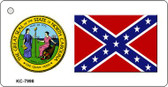 Confederate Flag NC Seal Wholesale Novelty Key Chain