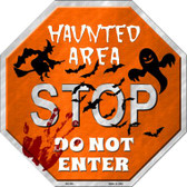 Haunted Area Stop Wholesale Metal Novelty Stop Sign