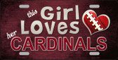 This Girl Loves Her Cardinals Wholesale Novelty Metal License Plate
