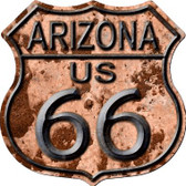 Arizona Route 66 Rusty Wholesale Metal Novelty Highway Shield