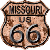 Missouri Route 66 Rusty Wholesale Metal Novelty Highway Shield