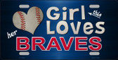 This Girl Loves Her Braves Novelty Wholesale Metal License Plate