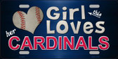 This Girl Loves Her Cardinals Novelty Wholesale Metal License Plate