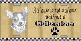 Pencil Sketch Chihuahua Wholesale Metal Novelty License Plate