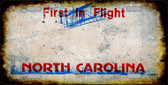 North Carolina State Background Rusty Novelty Wholesale Metal License Plate