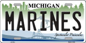 Marines Michigan Novelty Wholesale Metal License Plate