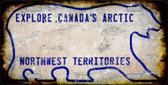 Northwest Territories Background Rusty Novelty Wholesale Metal License Plate LP-8180