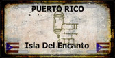 Puerto Rico Background Rusty Novelty Wholesale Metal License Plate