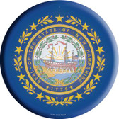 New Hampshire State Flag Wholesale Metal Circular Sign