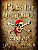 Pirate Quarters Wholesale Metal Novelty Parking Sign
