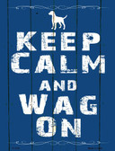 Keep Calm Wag On Wholesale Metal Novelty Parking Sign