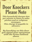 Door Knockers Wholesale Metal Novelty Parking Sign