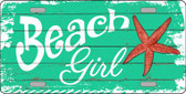 Beach Girl Wholesale Metal Novelty License Plate