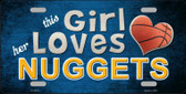 This Girl Loves Her Nuggets Novelty Wholesale Metal License Plate