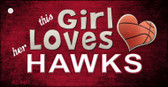 This Girl Loves Her Hawks Wholesale Novelty Key Chain