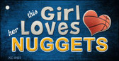 This Girl Loves Her Nuggets Wholesale Novelty Key Chain