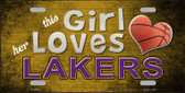 This Girl Loves Her Lakers Novelty Wholesale Metal License Plate