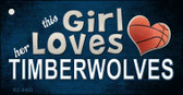 This Girl Loves Her Timberwolves Wholesale Novelty Key Chain