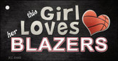 This Girl Loves Her Blazers Wholesale Novelty Key Chain