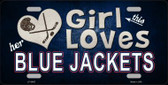 This Girl Loves Her Blue Jackets Novelty Wholesale Metal License Plate