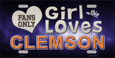 This Girl Loves Clemson Novelty Wholesale Metal License Plate