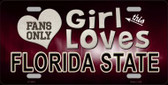 This Girl Loves Florida State Novelty Wholesale Metal License Plate