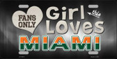 This Girl Loves Miami Novelty Wholesale Metal License Plate
