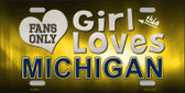 This Girl Loves Michigan Novelty Wholesale Metal License Plate