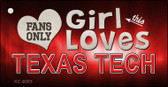 This Girl Loves Texas Tech Wholesale Novelty Key Chain