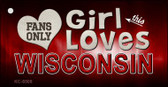 This Girl Loves Wisconsin Wholesale Novelty Key Chain