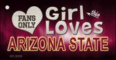 This Girl Loves Arizona State Wholesale Novelty Key Chain