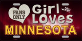 This Girl Loves Minnesota Novelty Wholesale Metal License Plate