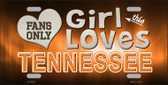 This Girl Loves Tennessee Novelty Wholesale Metal License Plate